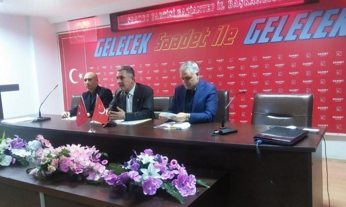 Saadet Partisi Şehitkamil Divan toplantısı yaptı